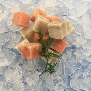 Mix cubes:  saithe + salmon